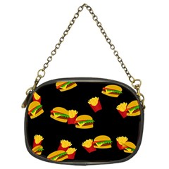 Hamburgers And French Fries Pattern Chain Purses (two Sides)  by Valentinaart