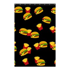 Hamburgers And French Fries Pattern Shower Curtain 48  X 72  (small)  by Valentinaart