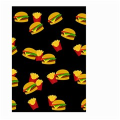 Hamburgers And French Fries Pattern Large Garden Flag (two Sides) by Valentinaart