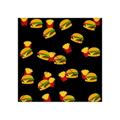 Hamburgers And French Fries Pattern Acrylic Tangram Puzzle (4  X 4 ) by Valentinaart