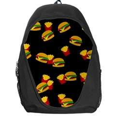 Hamburgers And French Fries Pattern Backpack Bag by Valentinaart