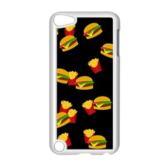 Hamburgers And French Fries Pattern Apple Ipod Touch 5 Case (white) by Valentinaart