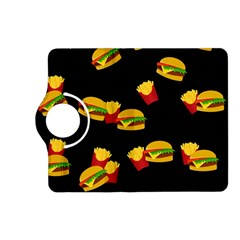 Hamburgers And French Fries Pattern Kindle Fire Hd (2013) Flip 360 Case by Valentinaart