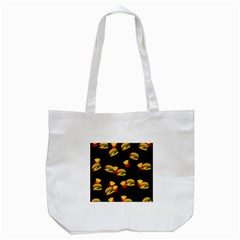 Hamburgers And French Fries Pattern Tote Bag (white) by Valentinaart