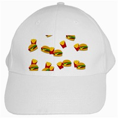 Hamburgers And French Fries  White Cap by Valentinaart