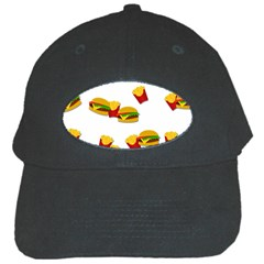 Hamburgers And French Fries  Black Cap by Valentinaart