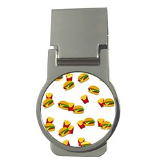 Hamburgers And French Fries  Money Clips (round)  by Valentinaart