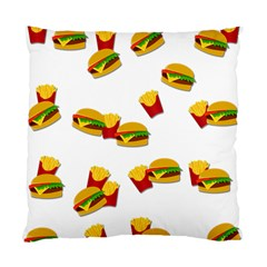 Hamburgers And French Fries  Standard Cushion Case (one Side) by Valentinaart
