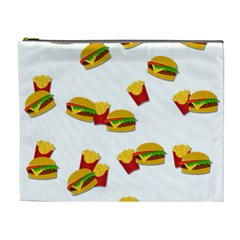 Hamburgers And French Fries  Cosmetic Bag (xl) by Valentinaart