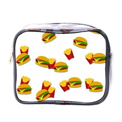 Hamburgers And French Fries  Mini Toiletries Bags by Valentinaart