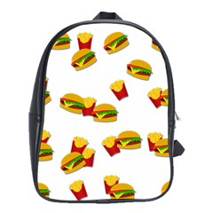 Hamburgers And French Fries  School Bags (xl)  by Valentinaart