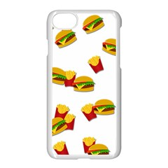 Hamburgers And French Fries  Apple Iphone 7 Seamless Case (white) by Valentinaart