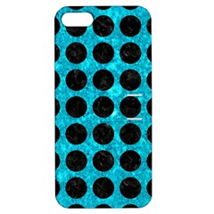 Circles1 Black Marble & Turquoise Marble (r) Apple Iphone 5 Hardshell Case With Stand by trendistuff