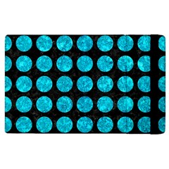 Circles1 Black Marble & Turquoise Marble Apple Ipad 2 Flip Case by trendistuff