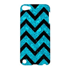 Chevron9 Black Marble & Turquoise Marble (r) Apple Ipod Touch 5 Hardshell Case by trendistuff