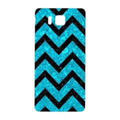 Chevron9 Black Marble & Turquoise Marble (r) Samsung Galaxy Alpha Hardshell Back Case by trendistuff
