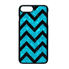 Chevron9 Black Marble & Turquoise Marble (r) Apple Iphone 7 Plus Seamless Case (black)