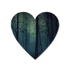 Dark Forest Heart Magnet by Brittlevirginclothing