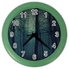 Dark Forest Color Wall Clocks by Brittlevirginclothing