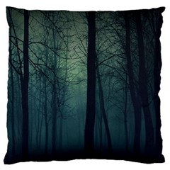 Dark Forest Large Flano Cushion Case (one Side) by Brittlevirginclothing