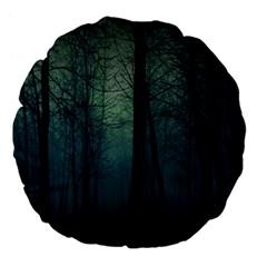 Dark Forest Large 18  Premium Flano Round Cushions by Brittlevirginclothing