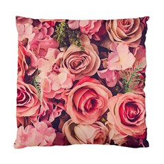 Beautiful Pink Roses Standard Cushion Case (two Sides) by Brittlevirginclothing