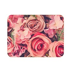 Beautiful Pink Roses Double Sided Flano Blanket (mini)  by Brittlevirginclothing