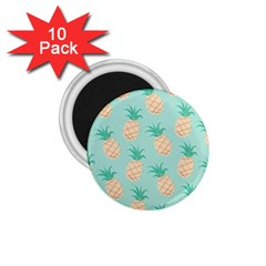 Pineapple 1 75  Magnets (10 Pack)  by Brittlevirginclothing