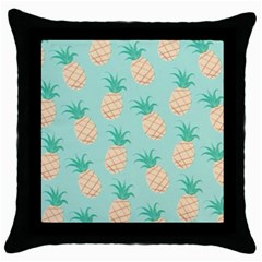 Pineapple Throw Pillow Case (black) by Brittlevirginclothing