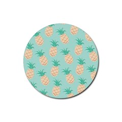 Pineapple Rubber Round Coaster (4 Pack)  by Brittlevirginclothing
