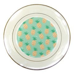 Pineapple Porcelain Plates by Brittlevirginclothing