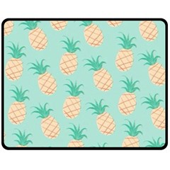 Pineapple Double Sided Fleece Blanket (medium)  by Brittlevirginclothing