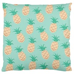 Pineapple Large Flano Cushion Case (one Side) by Brittlevirginclothing