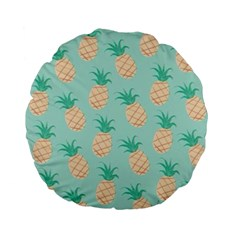 Pineapple Standard 15  Premium Flano Round Cushions by Brittlevirginclothing