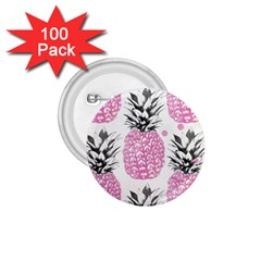 Pink Pineapple 1 75  Buttons (100 Pack)  by Brittlevirginclothing