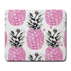 Pink Pineapple Large Mousepads by Brittlevirginclothing