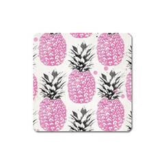 Pink Pineapple Square Magnet by Brittlevirginclothing