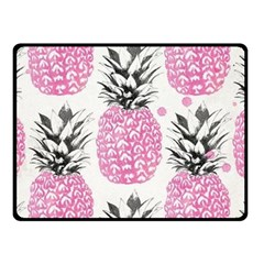 pink pineapple Double Sided Fleece Blanket (Small)  by Brittlevirginclothing