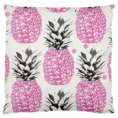 Pink Pineapple Standard Flano Cushion Case (one Side) by Brittlevirginclothing
