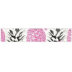 Pink Pineapple Flano Scarf (large)  by Brittlevirginclothing