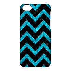 Chevron9 Black Marble & Turquoise Marble Apple Iphone 5c Hardshell Case by trendistuff