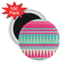 ¨pink Bohemian 2 25  Magnets (100 Pack)  by Brittlevirginclothing