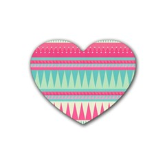 ¨pink Bohemian Rubber Coaster (heart)  by Brittlevirginclothing