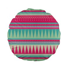¨pink Bohemian Standard 15  Premium Flano Round Cushions by Brittlevirginclothing