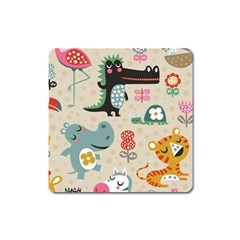 Cute Cartoon Square Magnet by Brittlevirginclothing