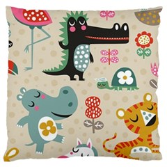 Cute Cartoon Large Cushion Case (two Sides) by Brittlevirginclothing