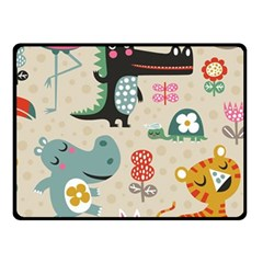 Cute Cartoon Double Sided Fleece Blanket (small)  by Brittlevirginclothing