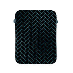 Brick2 Black Marble & Turquoise Marble Apple Ipad 2/3/4 Protective Soft Case by trendistuff