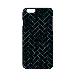 Brick2 Black Marble & Turquoise Marble Apple Iphone 6/6s Hardshell Case by trendistuff
