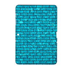 Brick1 Black Marble & Turquoise Marble (r) Samsung Galaxy Tab 2 (10 1 ) P5100 Hardshell Case  by trendistuff